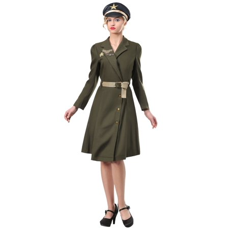 Plus Size Bombshell Military Captain Costume (Plus Size Military Costumes)