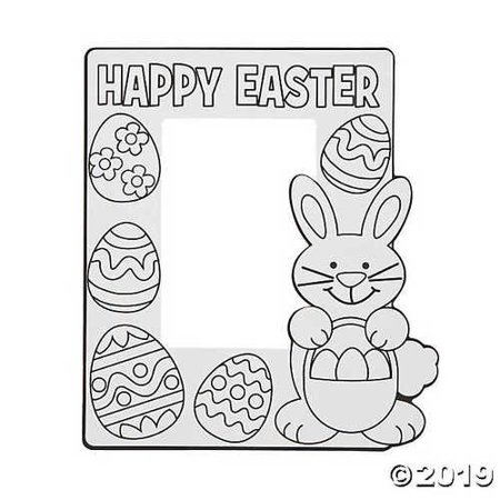 Paper Color Your Own Easter Picture Frames 1 Dozen - Owl Photo