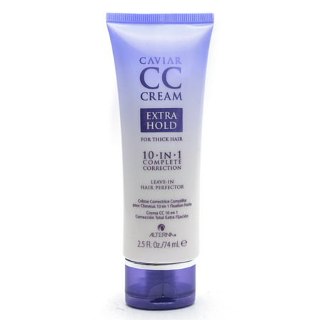 Alterna Caviar CC Cream Extra Hold for Thick Hair 10-in-1 & Leave-In Hair Perfector - Option : 2.5 oz
