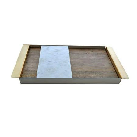 R16 Home Furniture AO-01B Peruke Tray, Brass - image 1 of 1