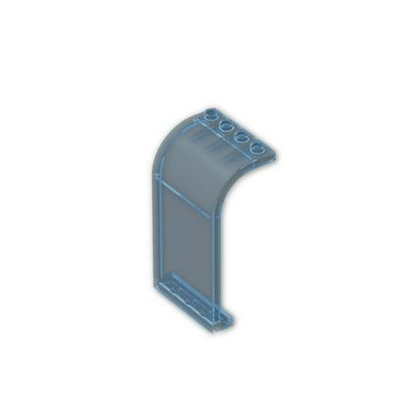 - Brick Building Sets Original LEGO® Parts: Panel 3 x 4 x 6 Curved Top #2571 (Pack of 2) (Transparent Light Blue)