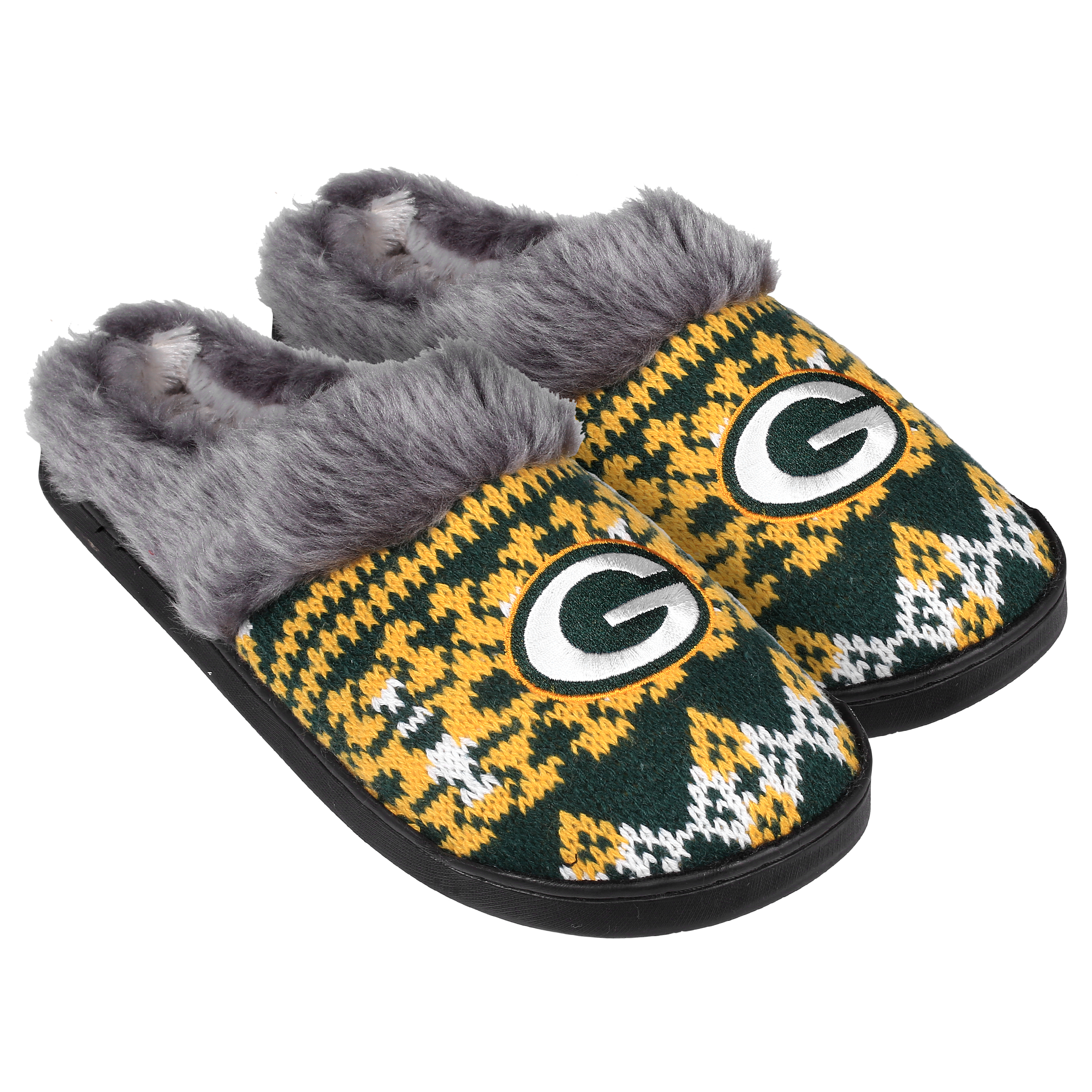 Green Bay Packers Women's Aztec Slide Slipper - 12pc Case