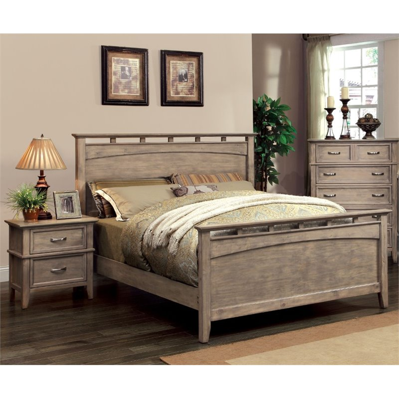 Furniture of America Ackerson Coastal 2 Piece King Panel Bedroom Set by Furniture of America