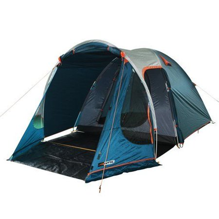 NTK INDY GT 4 to 5 Person 12.2 by 8 Foot Outdoor Dome Family Camping Tent 100% Waterproof 2500mm, European Design, Easy Assembly, Durable Fabric Full Coverage Rainfly - Micro Mosquito Mesh - Tmnt Fabric