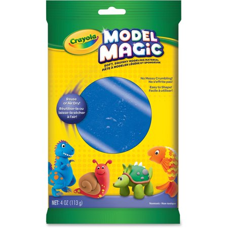 Crayola 4 Ounces Blue Model Magic Modeling Material, 1 Each 2 Mm White Clay