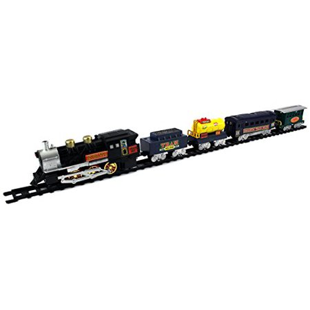 Tram Express Battery Operated Toy Train Set w/ 5 Train Cars, Train (Best Train Set For 5 Year Old)