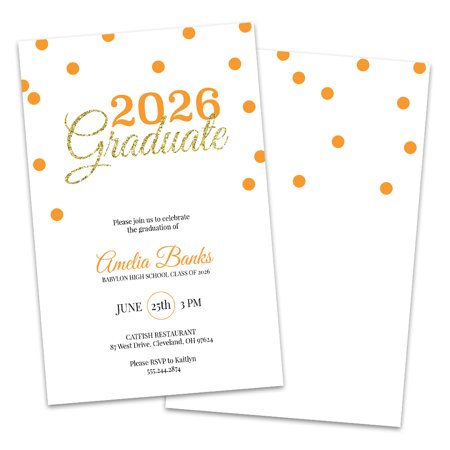 Personalized Glitter Graduate Graduation Party Invitation