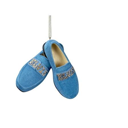 Kurt Adler Elvis Presley Blue Suede Shoes Hanging Ornament - Shoe Ornaments