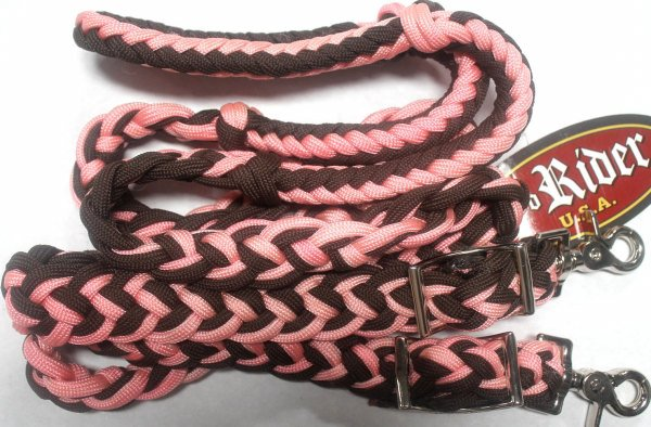 PRORIDER Roping Knotted Horse Tack Western Barrel Reins 607 P