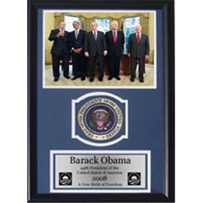 Encore Select 189-obama3 Barack Obama Former Presidents 12x18 Patch Frame