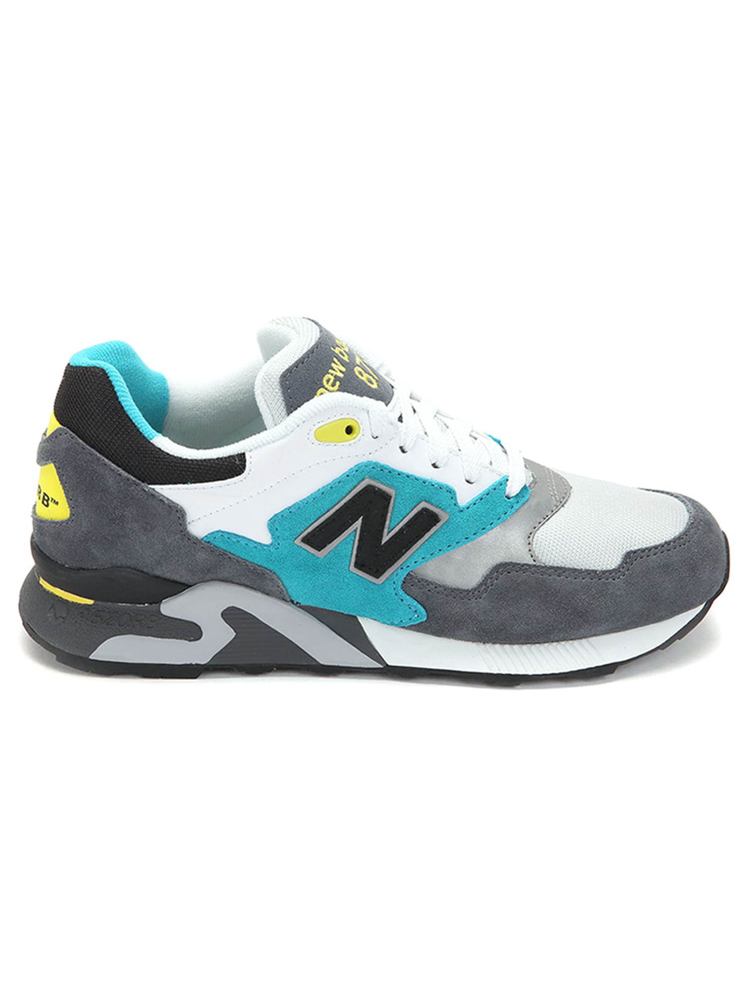 New Balance Men's 878 90's Running Shoes ML878AAC Grey/White/Teal