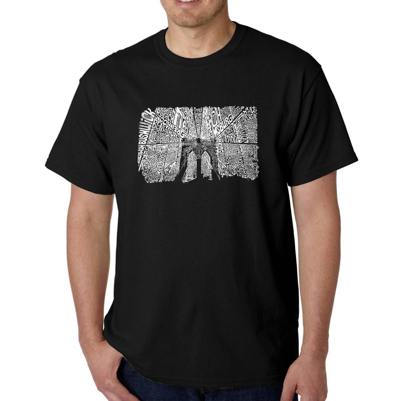 Los Angeles Pop Art Big Men's T-shirt - Brooklyn Bridge