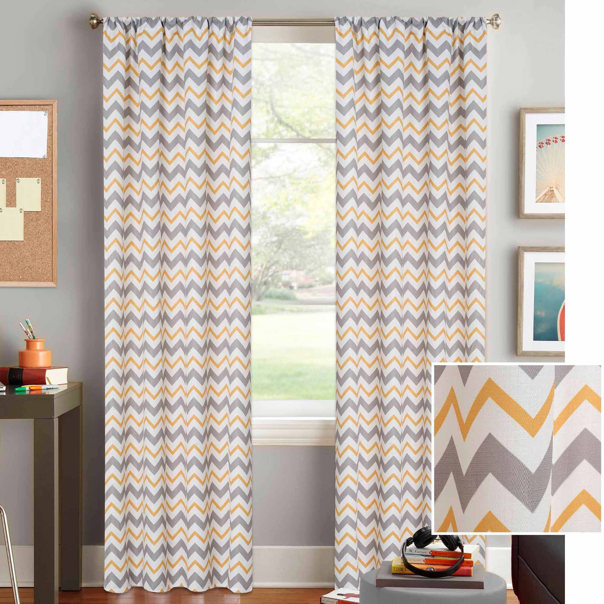 chevron living room curtains better homes and gardens chevron curtain panel walmart 15325