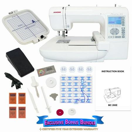 Janome 200E Memory Craft Embroidery Machine