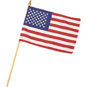 RED WHITE BLUE - US American Stick Flag