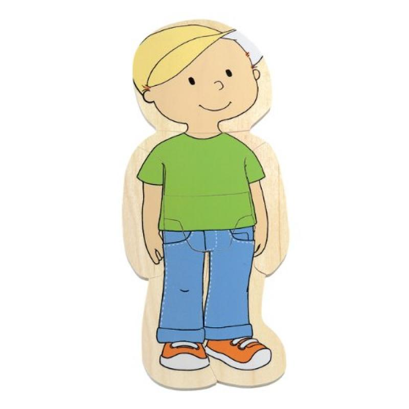 Hape Your Body 5-Layer Wooden Puzzle Boy