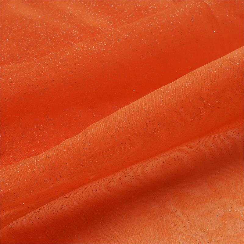 "BalsaCircle 54"" x 10 yards Glittered Organza Fabric Bolt Put-up - Sewing Crafts Draping Decorations Supplies"