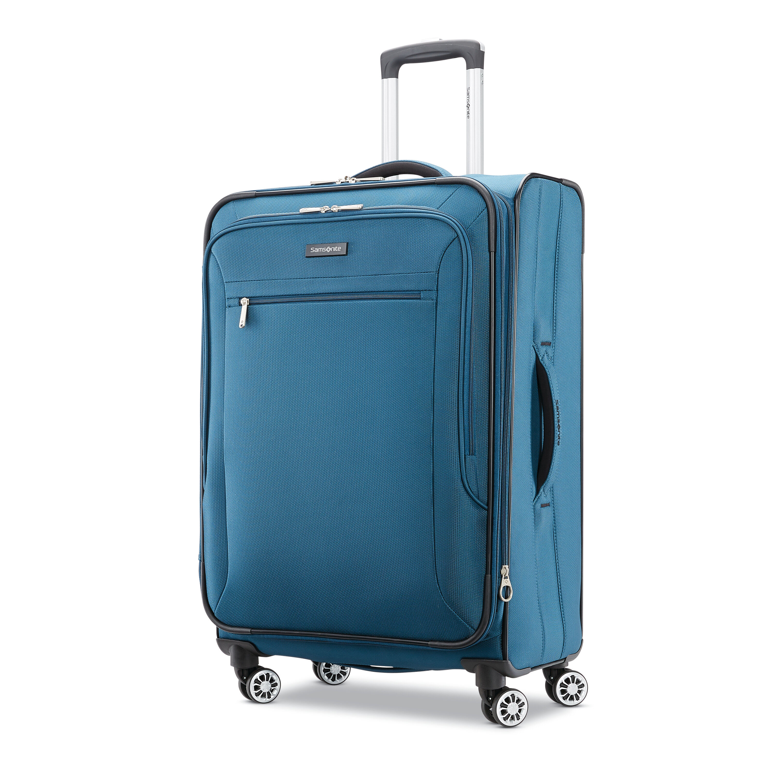 """Samsonite Ascella X 25"""" Medium Checked Expandable Luggage with Dual Spinner,Teal"""