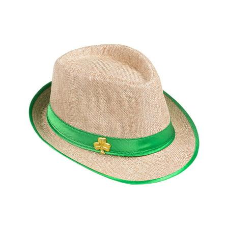 Irish Costumes (Adults Saint Patrick's Day Gangster Irish Classy Fedora Hat Costume)