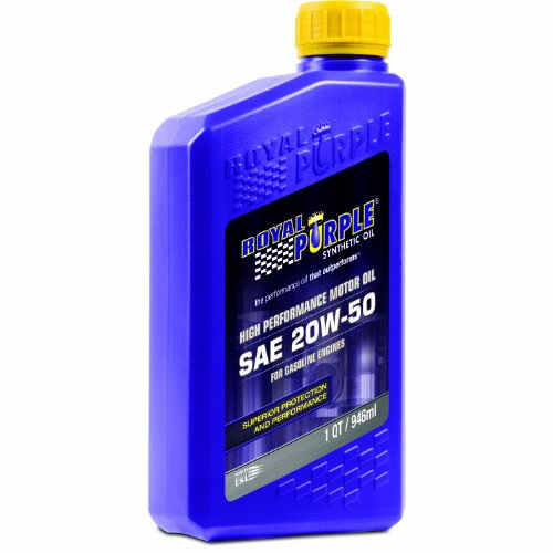 Royal Purple 01250 API-Licensed SAE 20W-50 High Performance Synthetic Motor Oil - 1 qt.