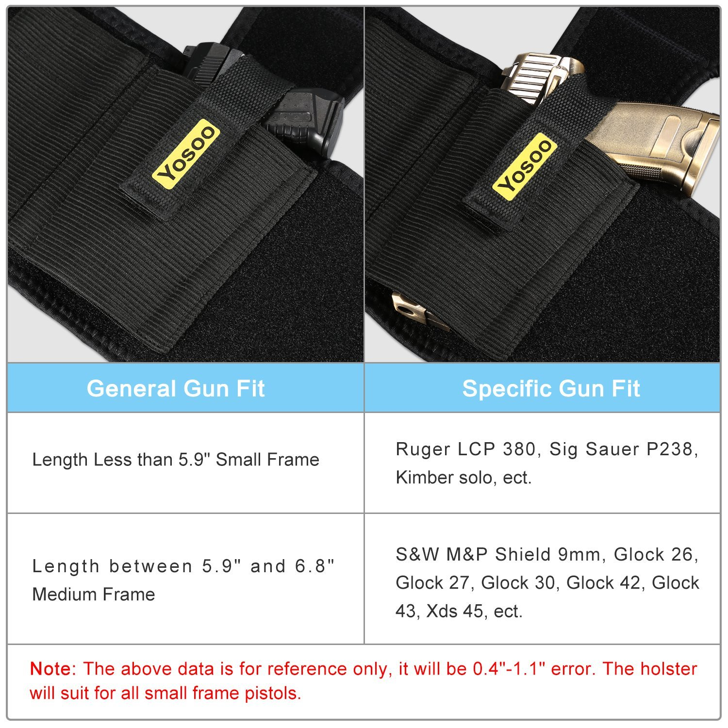 WALFRONT Ankle Holsters with Magazine Pouch Concealed Carry Gun Holster Fits Glock 42 43 27 19 - image 4 de 9
