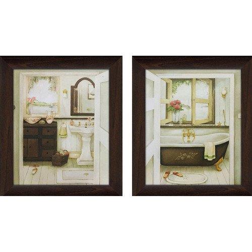 Picture Perfect International U0027u0027Sink U0026 Bathtubu0027u0027 2 Piece Framed Painting ...