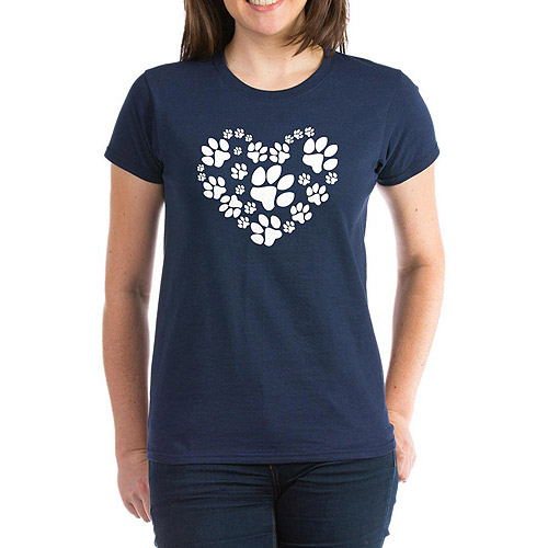 CafePress Womens Heart for Paws T-Shirt