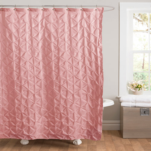 Essential Living Lake Como Pink Shower Curtain