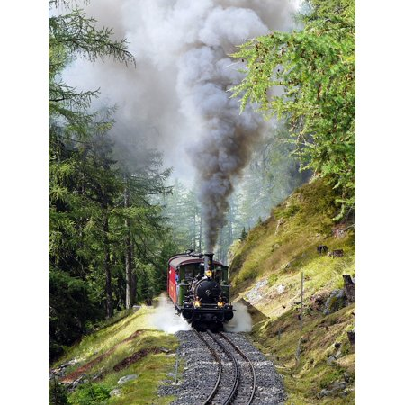 Canvas Print Steam Locomotive Narrow Gauge Furka Rack Railway Stretched Canvas 10 x 14