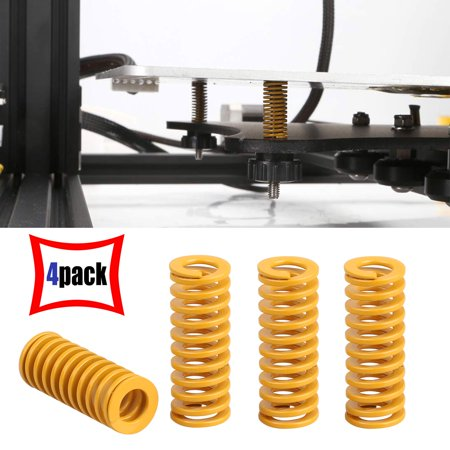 EEEkit 4 Pieces 3D Printer Motherboard Accessories Heatbed Springs Bottom Connect Leveling Load Compression Spring for 3D Printer Creality CR-10 10S