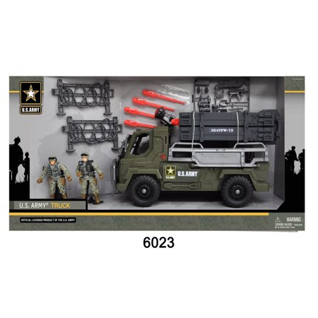 U S  Army Battery Operated Truck W  2 Soldier Figures