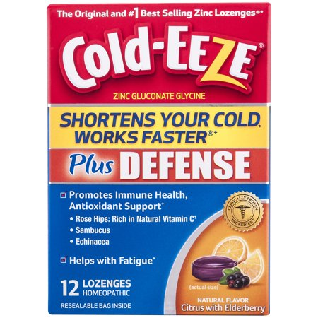 Cold-EEZE Plus Defense Natural Citrus with Elderberry Flavor Lozenges, 12 ct