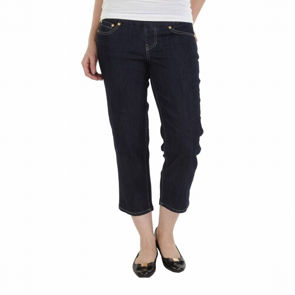 Jag Jeans NEW Dark Blue Women's Size 12X25 Capri Cropped ...