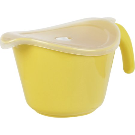 Calypso Basics, 2 Qt. Microwave Batter Bowl w/ Lid, Lemon