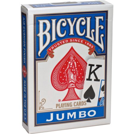 Bicycle Jumbo Indexed Traditional Playing Cards, Poker Size ()