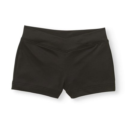 Danskin Spandex Shorts - Girls' Premium Nylon Dance Short with Criss Cross Front (Little & Big Girls)