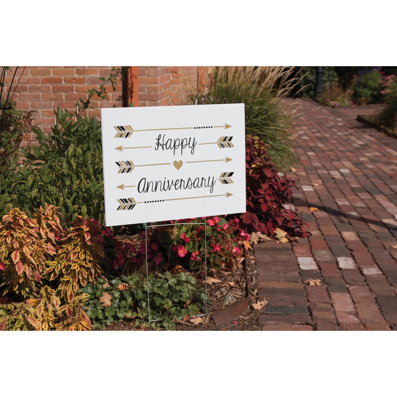 Happy Anniversary Yard Sign - Walmart.com