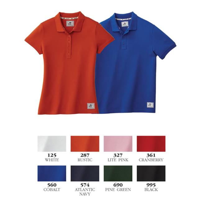 Trimark Sportswear 16602 Mapleton Short Sleeve Polo T Shirt, Lite Pink - Medium