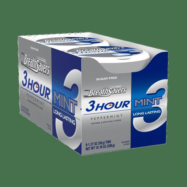 Breath Savers 3 Hour Peppermint Breath Mints 1 27 Oz 8 Ct Walmart Com Walmart Com