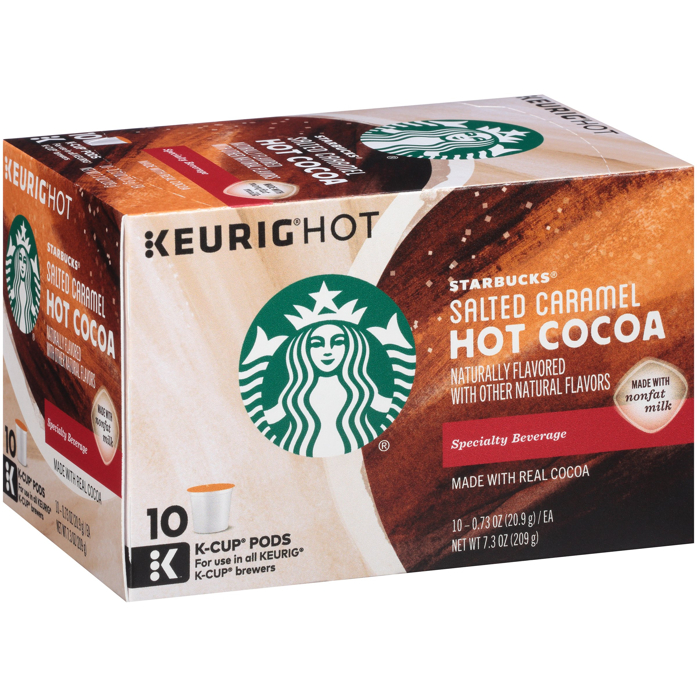 Keurig Starbucks Salted Caramel Hot Cocoa K-Cups, 0.73 oz, 10 count by STARBUCKS COFFEE COMPANY