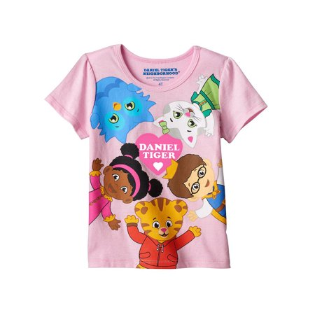 Daniel Tiger Girls Short Sleeve Tee (Toddler) DTST027 (Daniel Tiget)