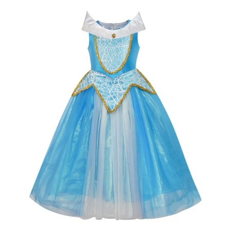 Princess Aurora Costume Briar Rose Dress Up Blue 5 - Shop Dress Up Boutique