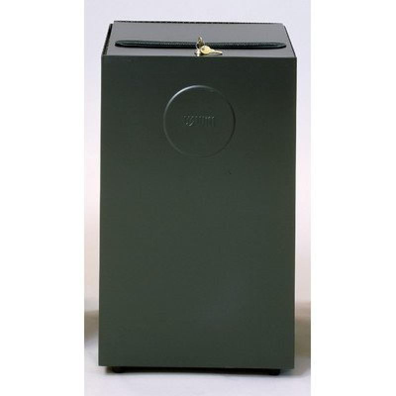 Witt Modified Series 24 Gallon Top Entry Secure Document Receptacle 24MSR Finish: Slate