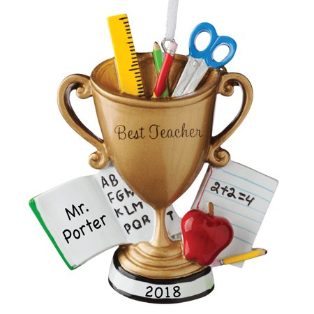 Personalized World's Best Teacher Trophy - Personalized Trophies