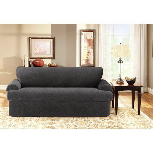 Sure Fit 3 Piece T Cushion Sofa Slipcover Walmart Com