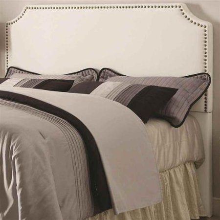 Upholstered Headboard With Nail Head Trim  Queen   63 In  W X 3 5 In  D X 53 In  H