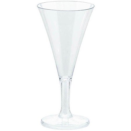 Stump Printing Clear Mini Champagne Flutes, Set of 20](Clear Plastic Champagne Glasses)