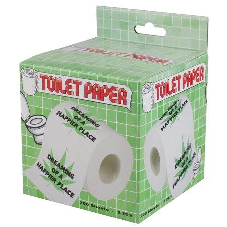 (Hemp Leaf Design Toilet Paper - 3 Ply / 200 Sheets)