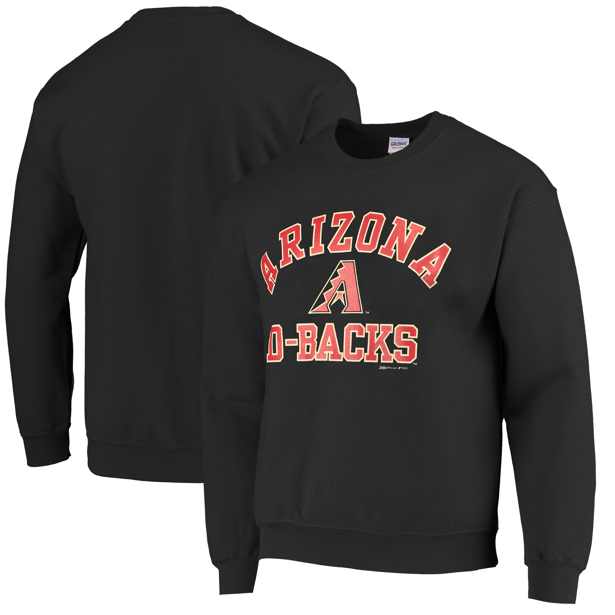 Arizona Diamondbacks Stitches Pullover Sweatshirt - Black
