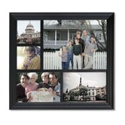 Adeco Trading 5 Opening Decorative Wood Photo Collage Wall Hanging Picture Frame